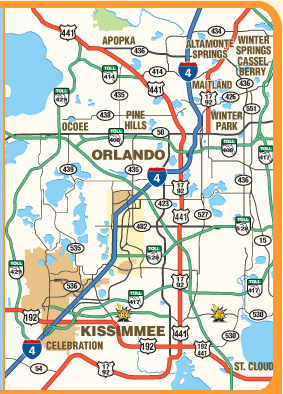 map orlando florida area Printable Maps Of Orlando And Kissimmee Florida Print A Free map orlando florida area